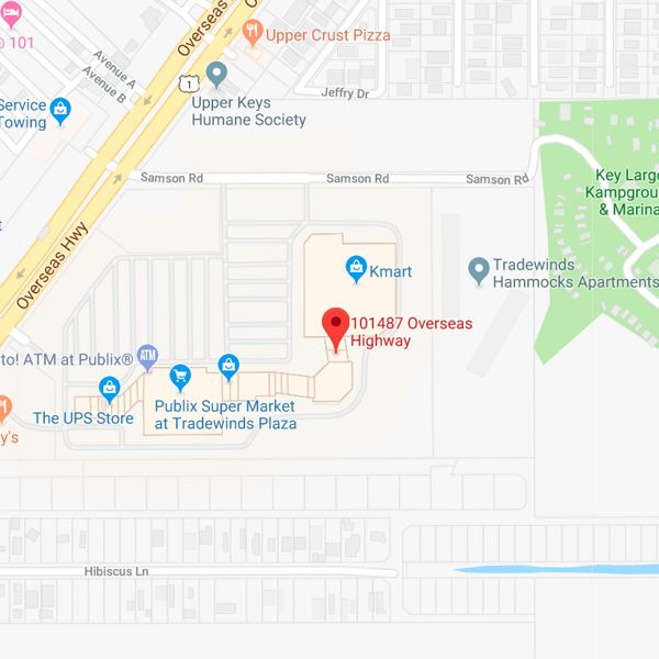 map to key largo branch office